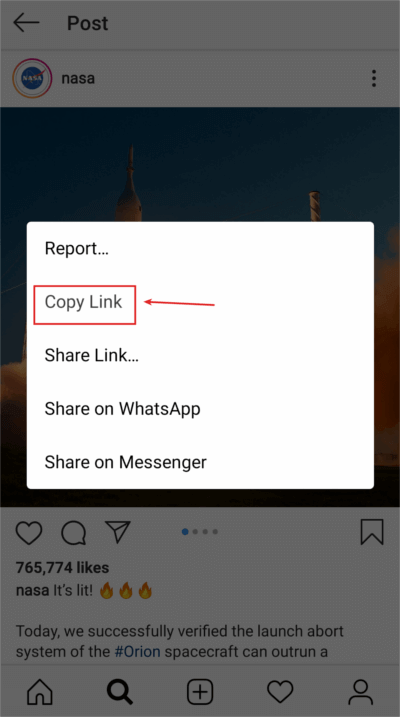 Instagram photo download URL link